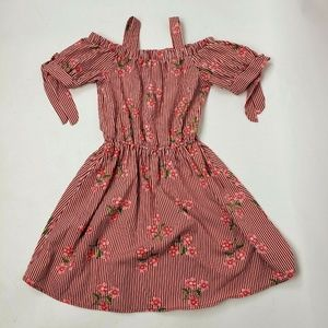 Lily Bleu Dresses - LILY BLEU Red Striped Floral Girl's Dress Sz 10